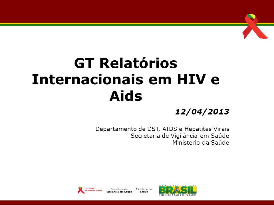 GT Relatórios Internacionais em HIV e Aids