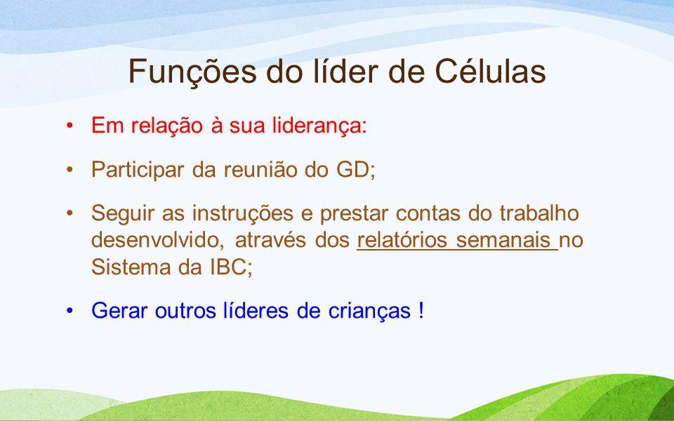 Funções do líder de Células