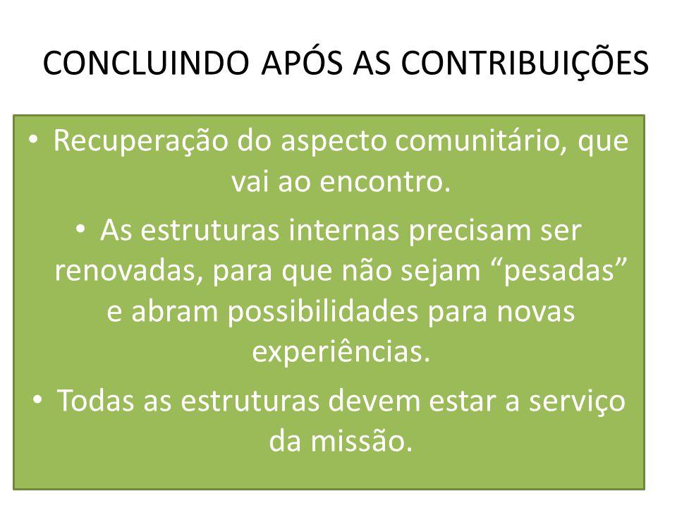 CONCLUINDO APÓS AS CONTRIBUIÇÕES