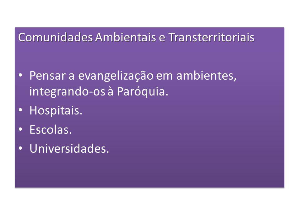 Comunidades Ambientais e Transterritoriais