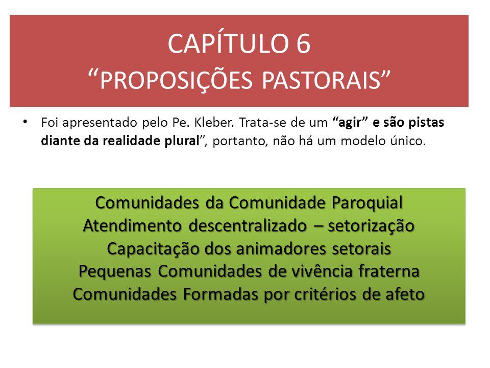 CAPÍTULO 6 PROPOSIÇÕES PASTORAIS