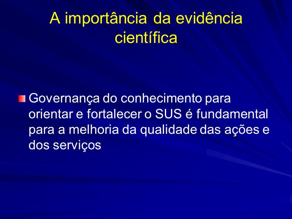A importância da evidência científica
