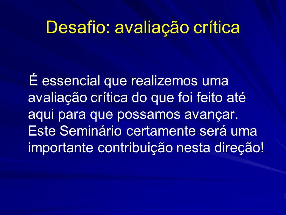 Desafio: avaliação crítica