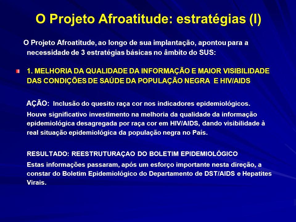 O Projeto Afroatitude: estratégias (I)