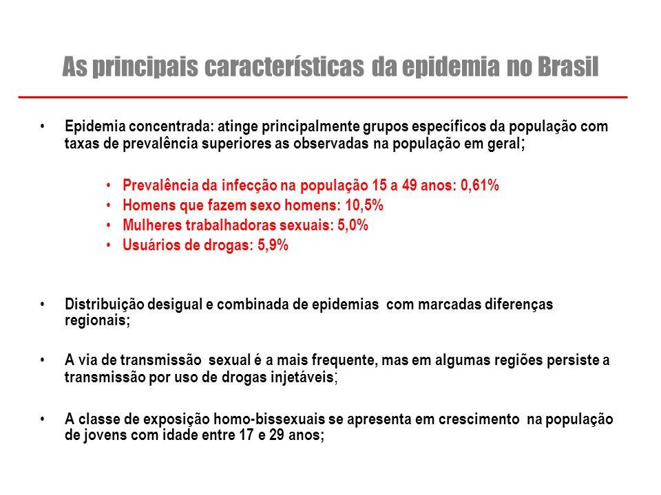 As principais características da epidemia no Brasil