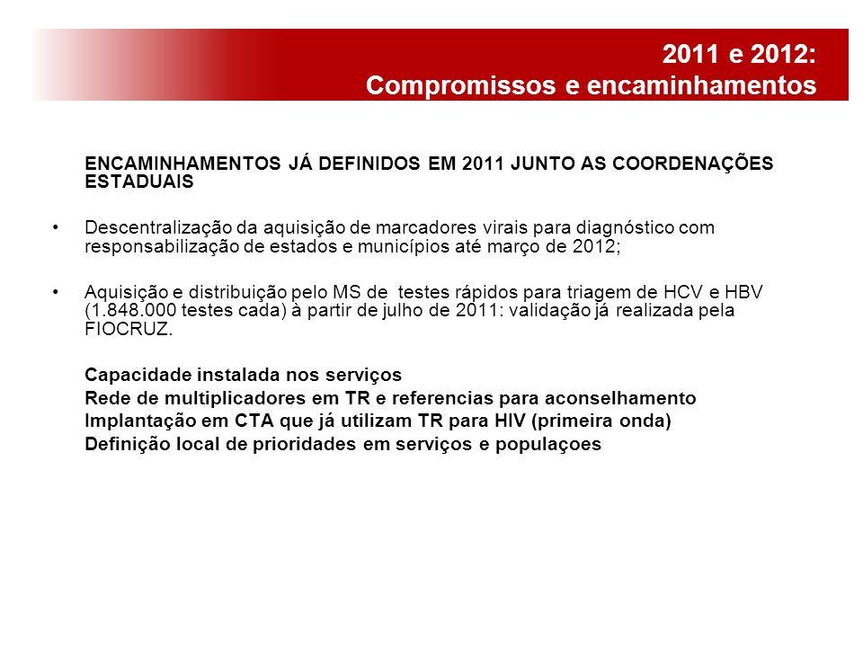 2011 e 2012: Compromissos e encaminhamentos