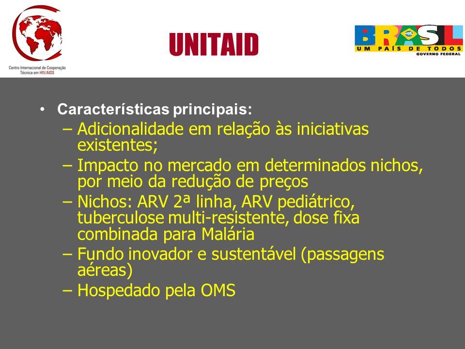 UNITAID Adicionalidade em relação às iniciativas existentes;