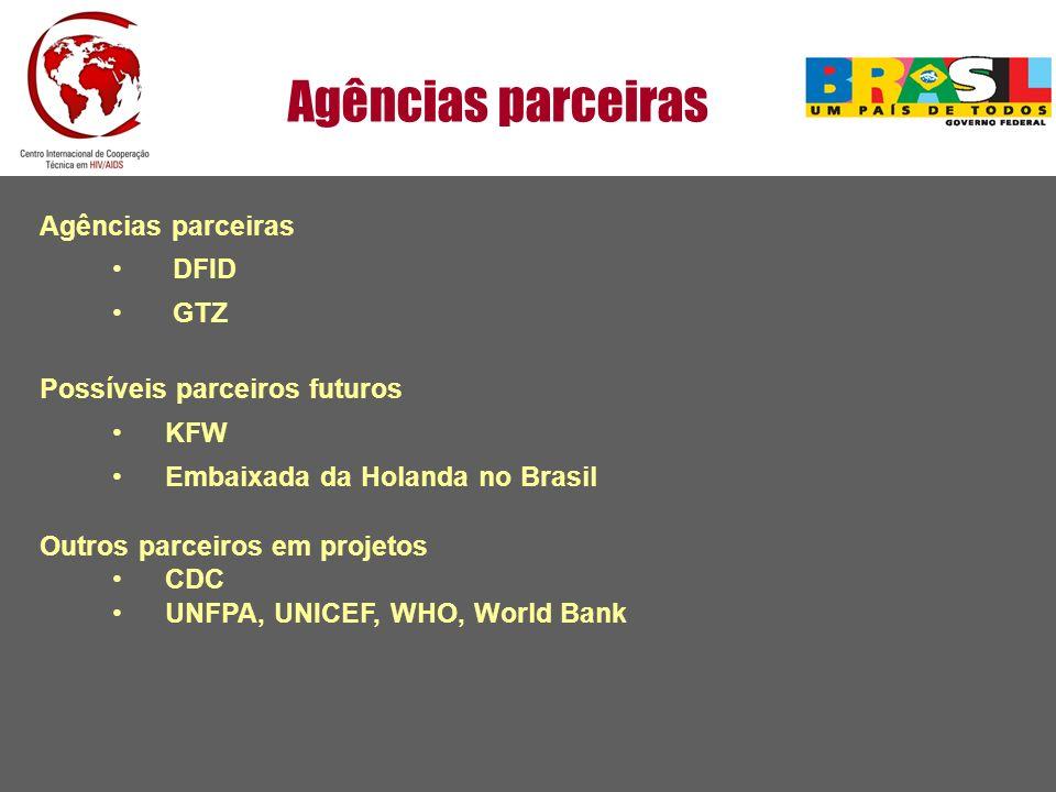 Agências parceiras Agências parceiras DFID GTZ