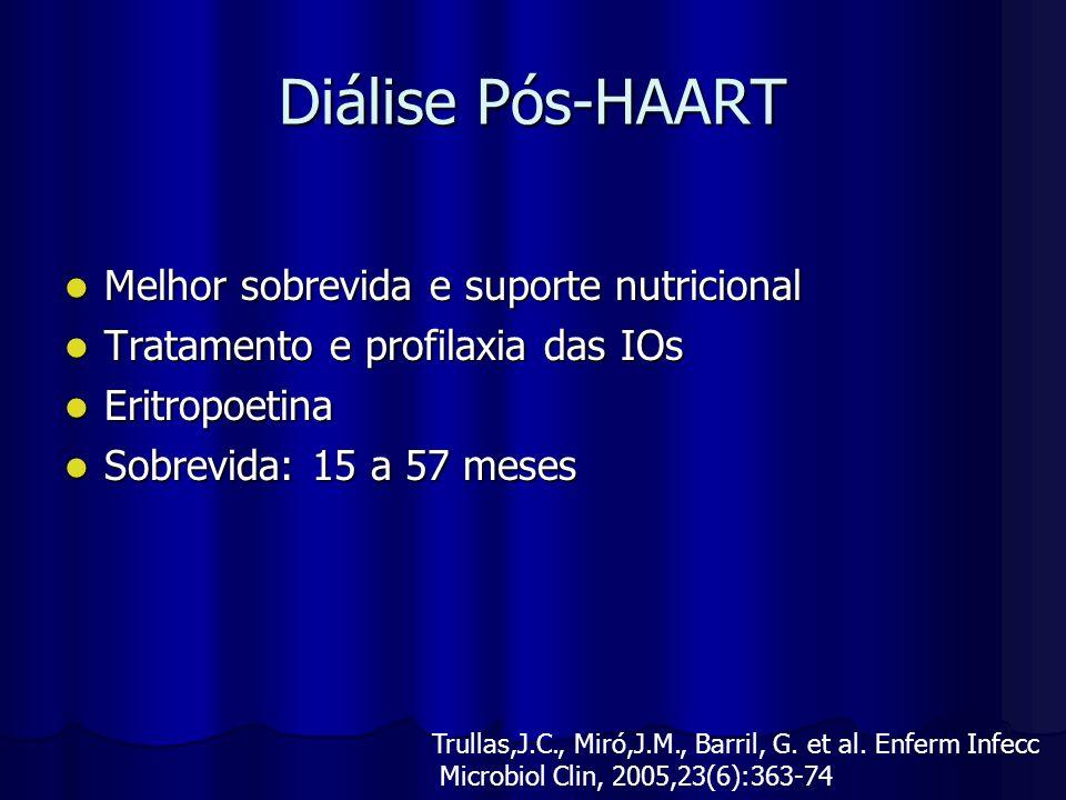 Diálise Pós-HAART Melhor sobrevida e suporte nutricional
