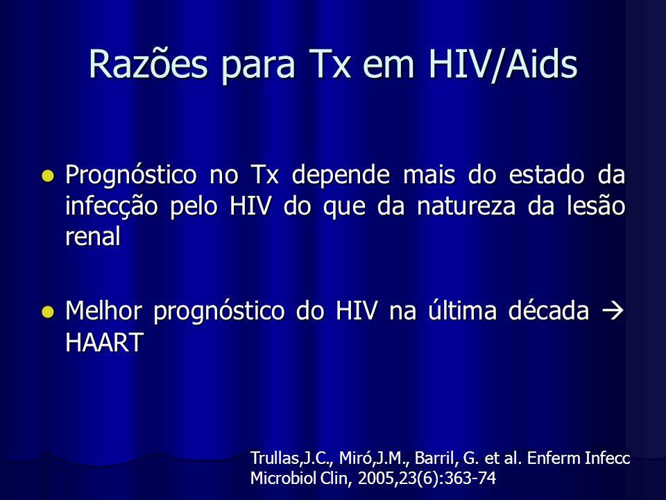 Razões para Tx em HIV/Aids