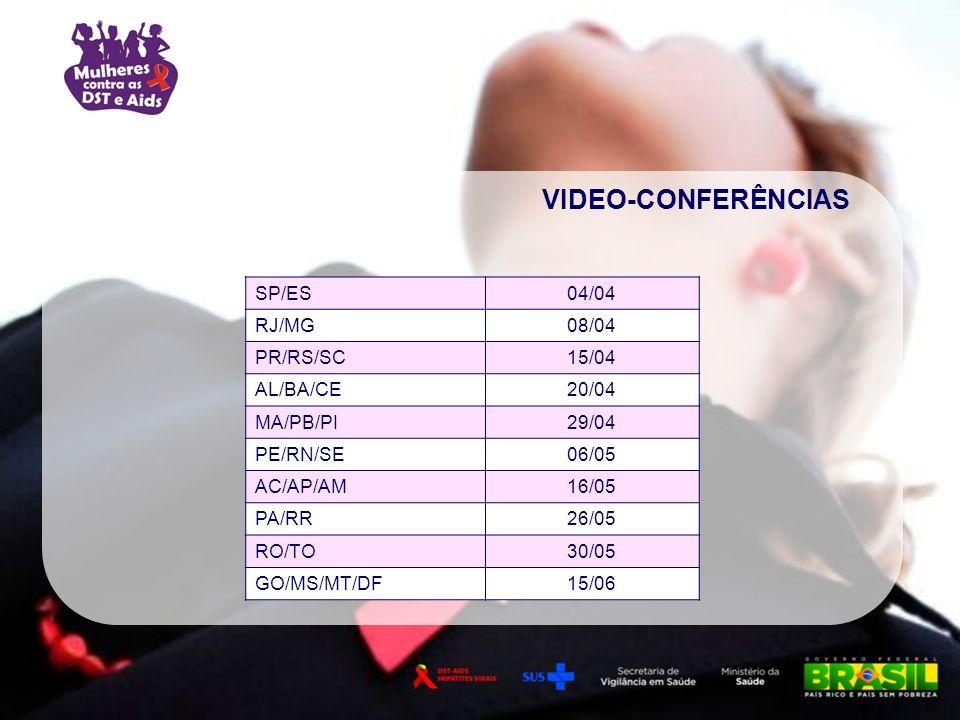 VIDEO-CONFERÊNCIAS SP/ES 04/04 RJ/MG 08/04 PR/RS/SC 15/04 AL/BA/CE