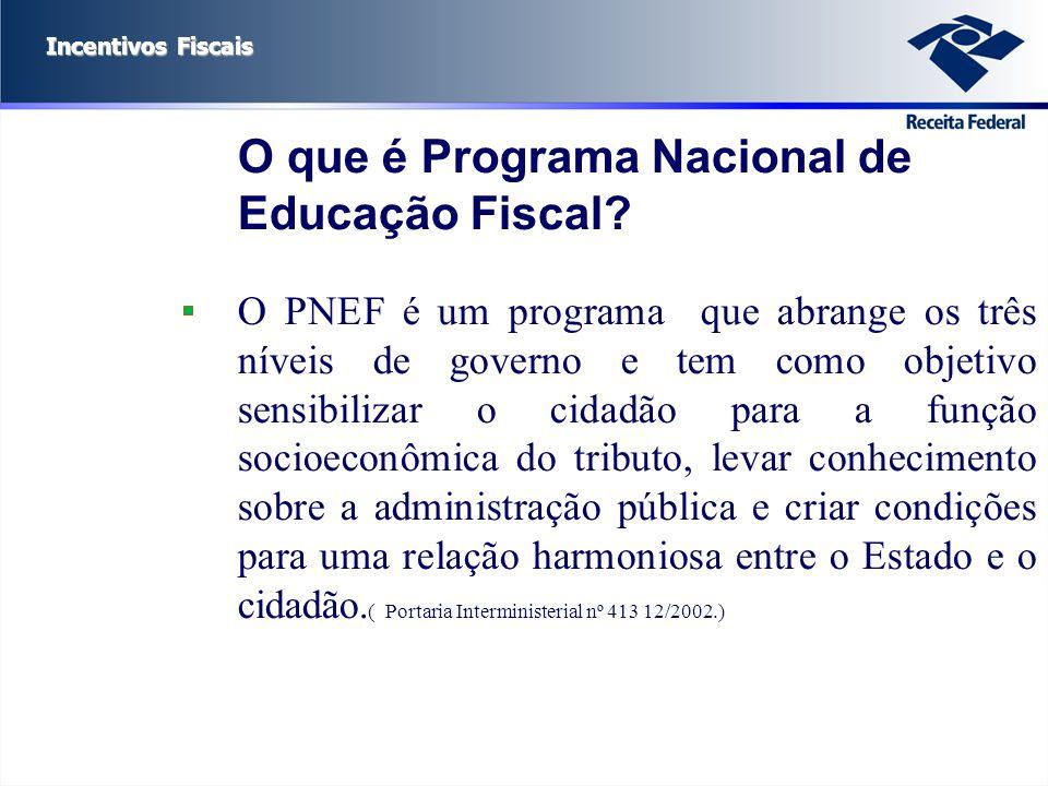 O que é Programa Nacional de Educação Fiscal