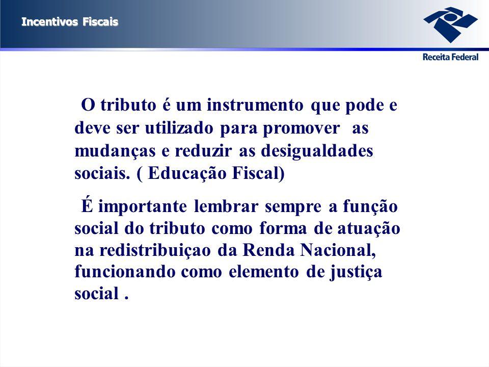 O tributo é um instrumento que pode e deve ser utilizado para promover as mudanças e reduzir as desigualdades sociais. ( Educação Fiscal)