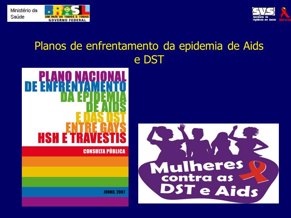 Planos de enfrentamento da epidemia de Aids e DST