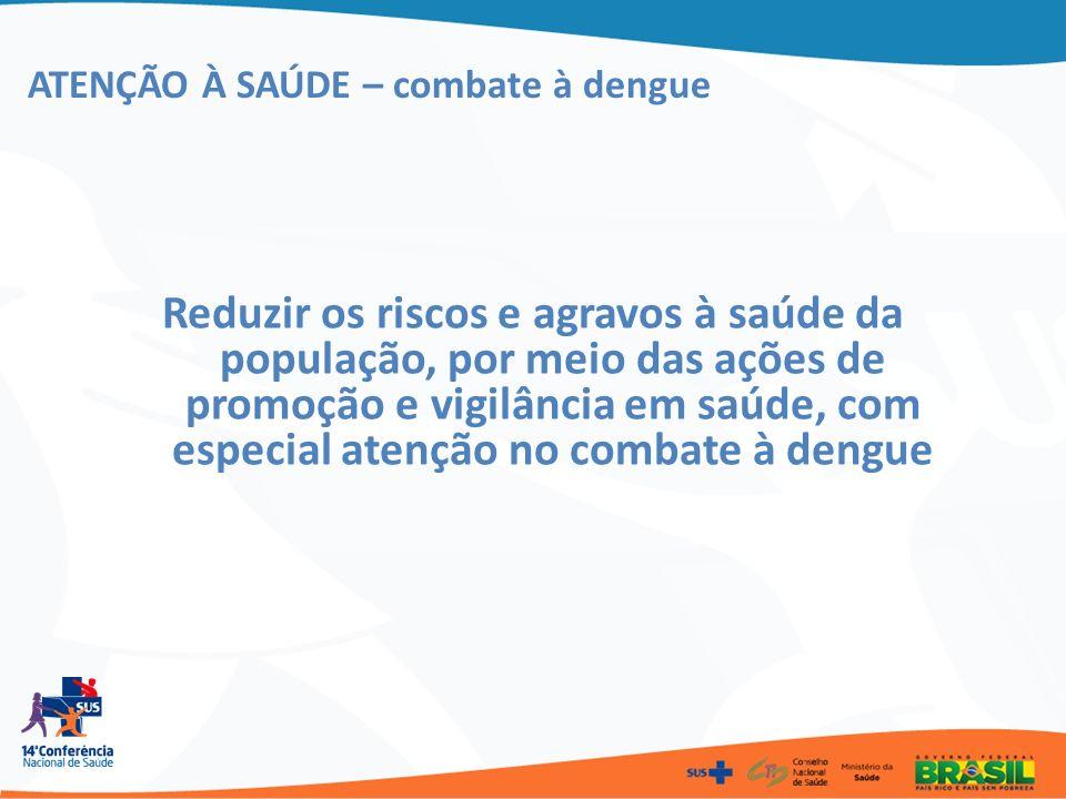 ATENÇÃO À SAÚDE – combate à dengue