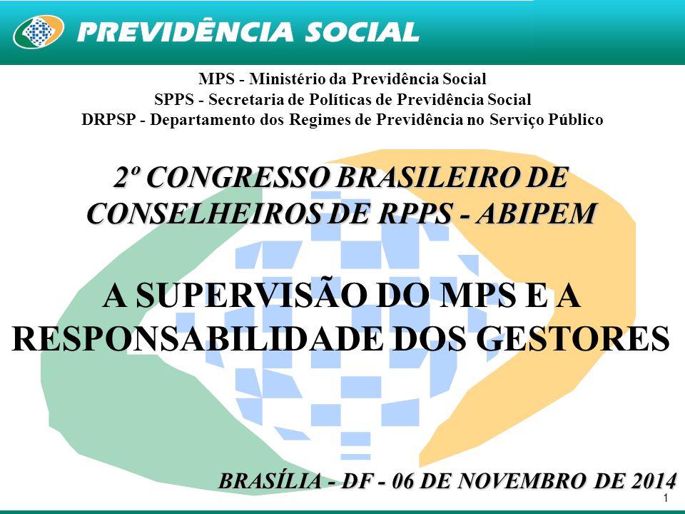 A SUPERVISÃO DO MPS E A RESPONSABILIDADE DOS GESTORES