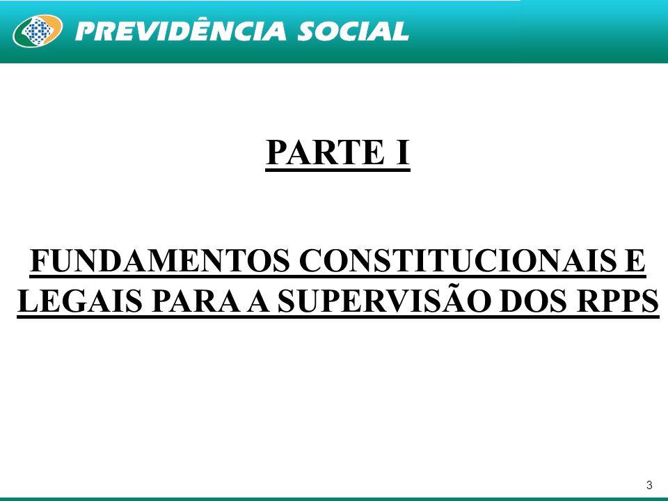 FUNDAMENTOS CONSTITUCIONAIS E LEGAIS PARA A SUPERVISÃO DOS RPPS