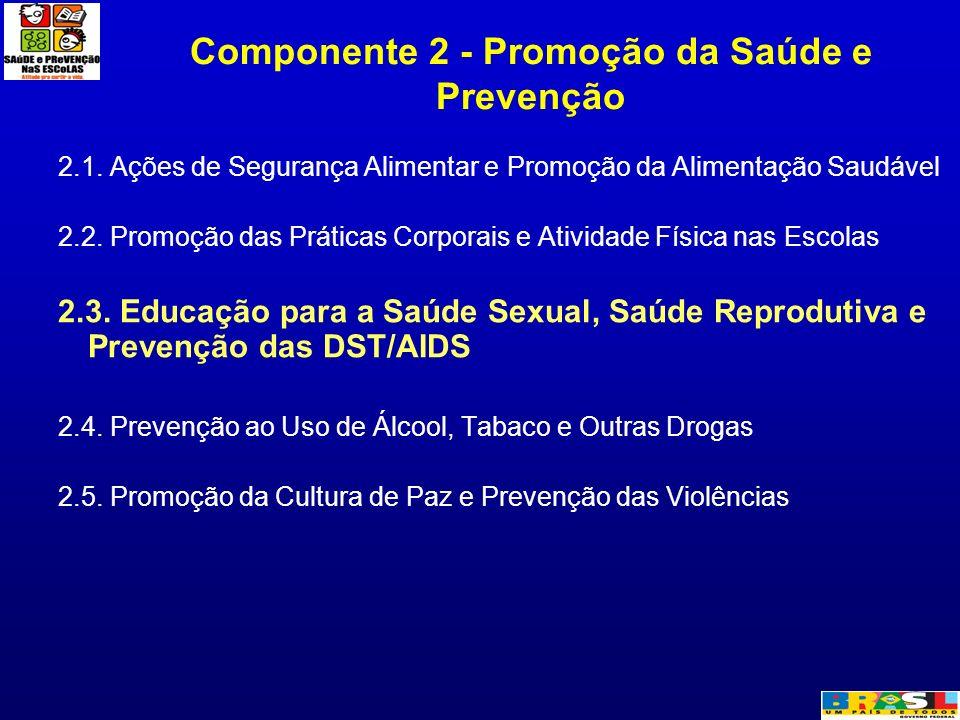 Componente 2 - Promoção da Saúde e Prevenção