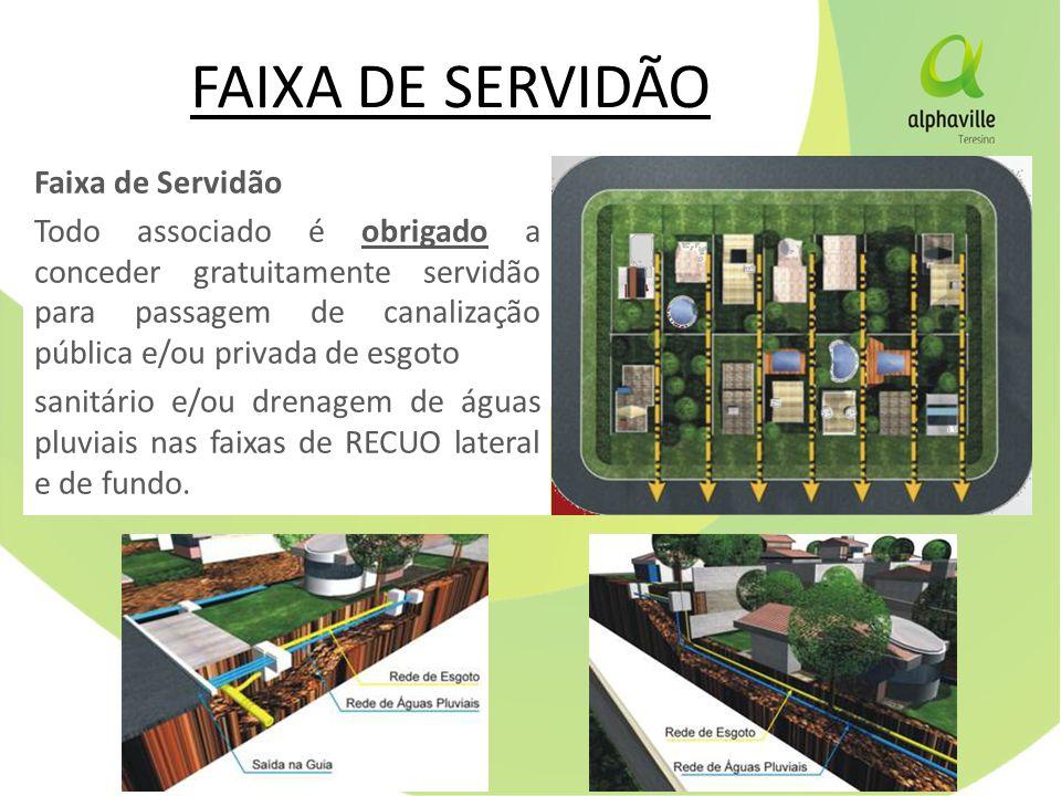 FAIXA DE SERVIDÃO Faixa de Servidão