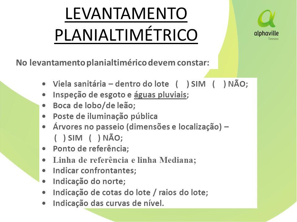 LEVANTAMENTO PLANIALTIMÉTRICO