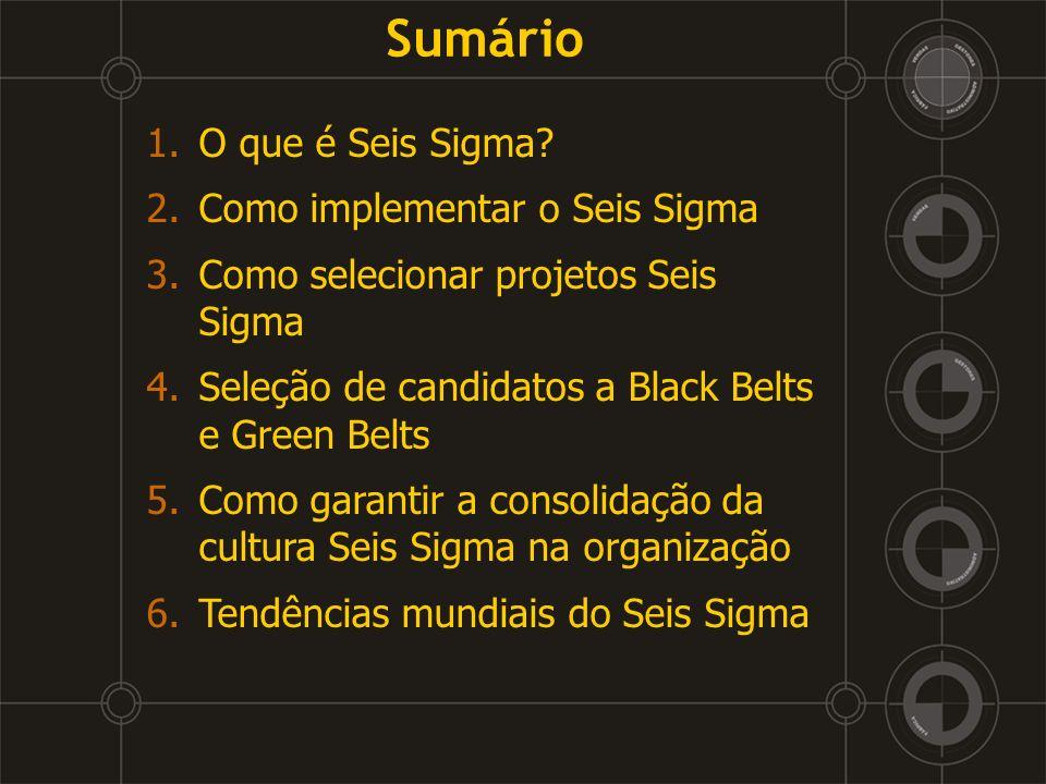 Sumário O que é Seis Sigma Como implementar o Seis Sigma
