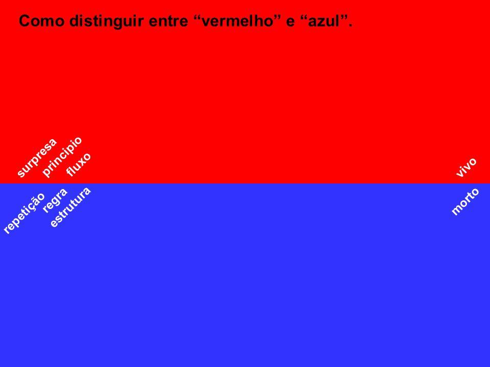 Como distinguir entre vermelho e azul .