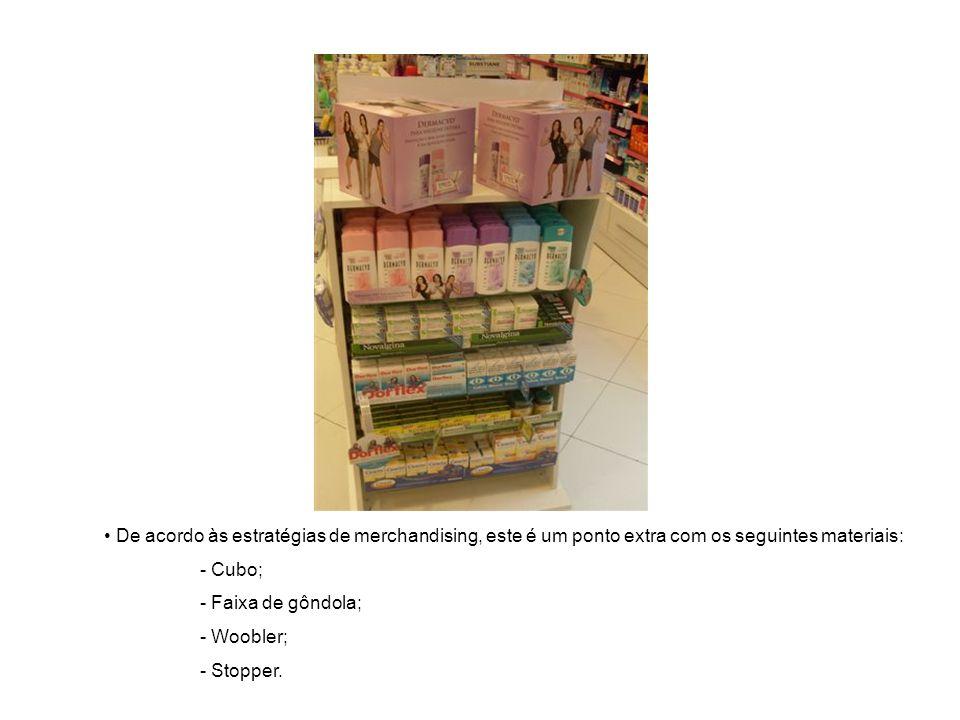 De acordo às estratégias de merchandising, este é um ponto extra com os seguintes materiais: