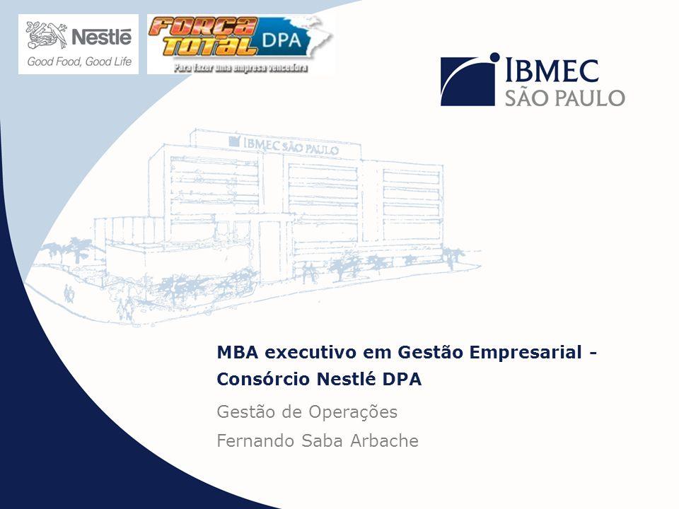 MBA executivo em Gestão Empresarial - Consórcio Nestlé DPA