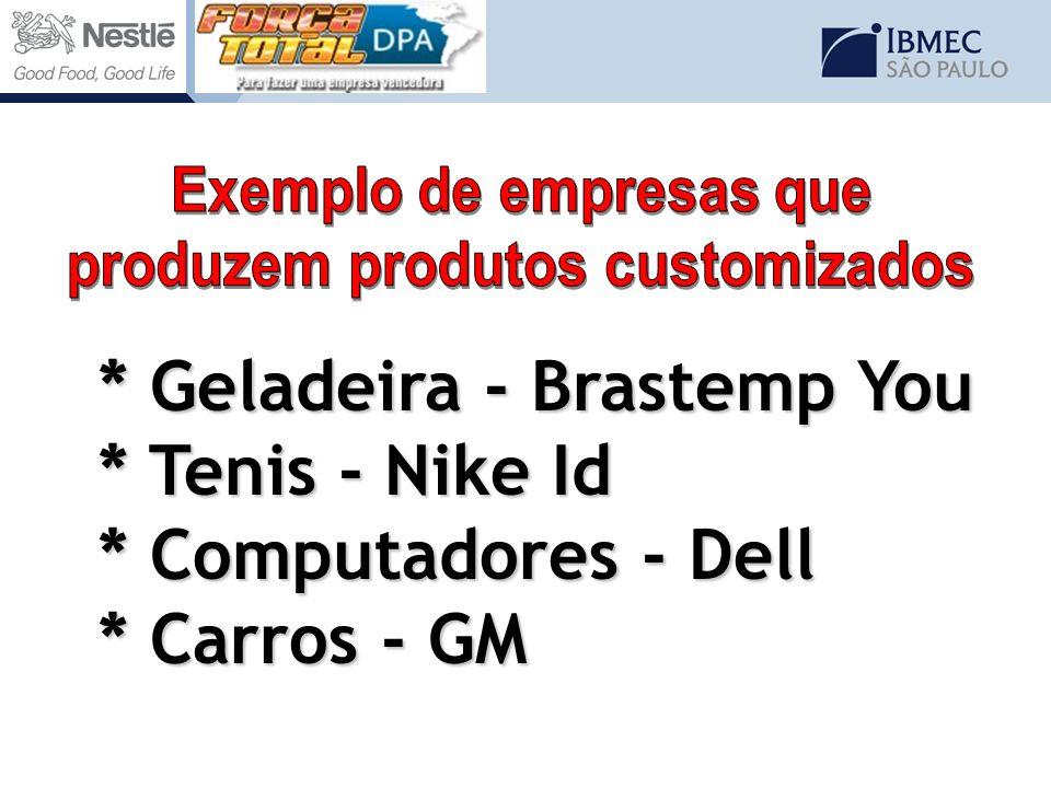 Exemplo de empresas que produzem produtos customizados