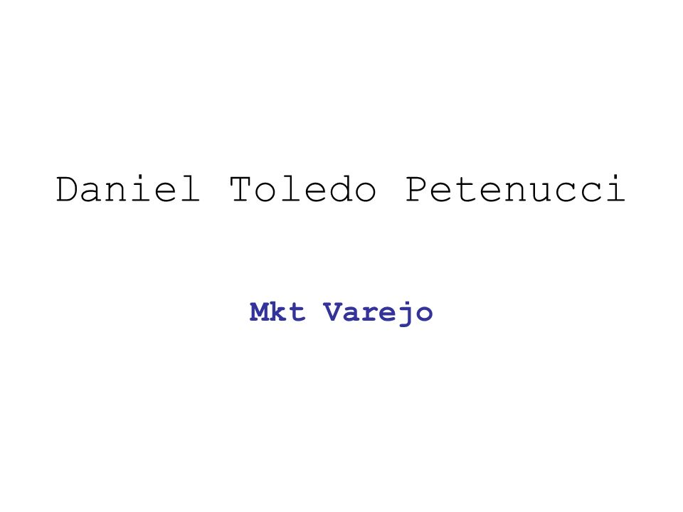 Daniel Toledo Petenucci