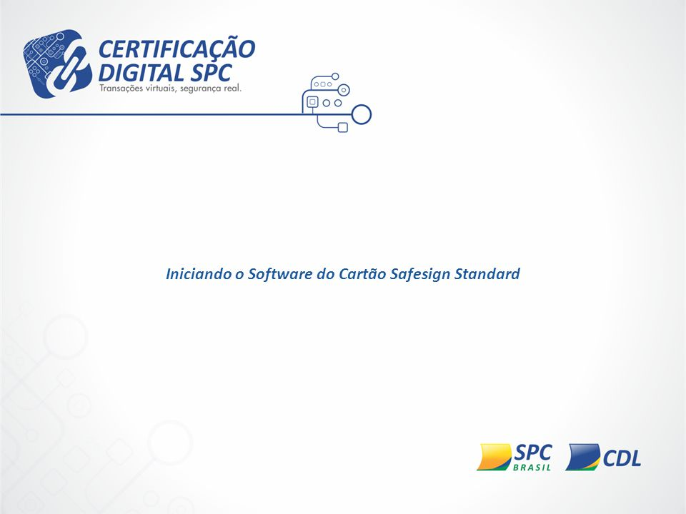 Iniciando o Software do Cartão Safesign Standard