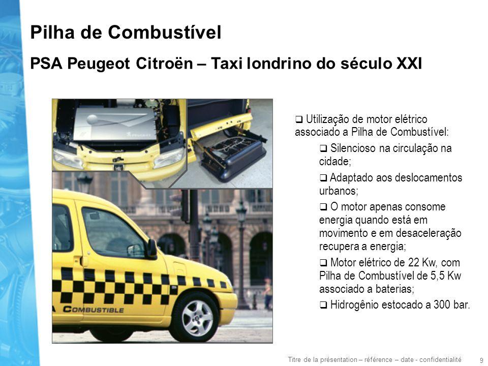 Pilha de Combustível PSA Peugeot Citroën – Taxi londrino do século XXI