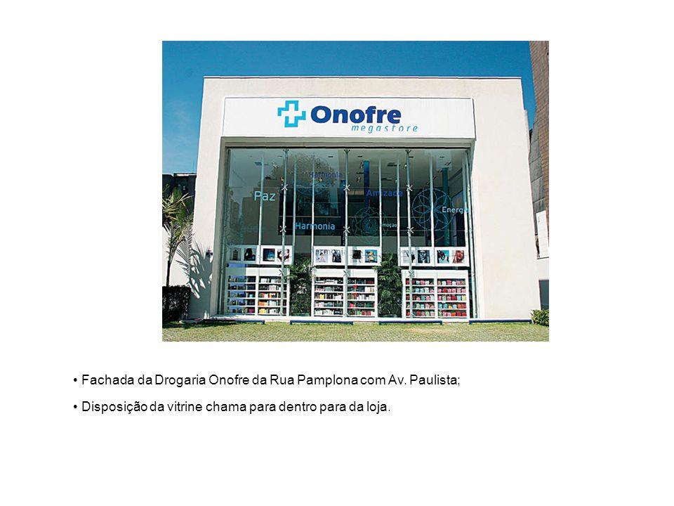 Fachada da Drogaria Onofre da Rua Pamplona com Av. Paulista;