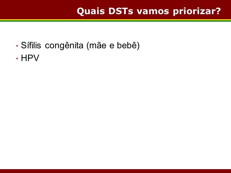 Quais DSTs vamos priorizar