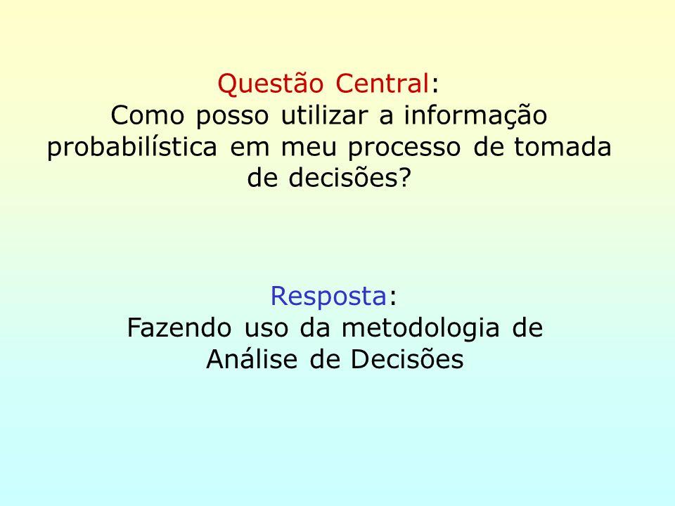 Fazendo uso da metodologia de Análise de Decisões