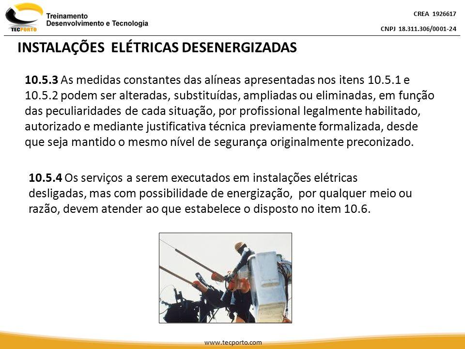INSTALAÇÕES ELÉTRICAS DESENERGIZADAS
