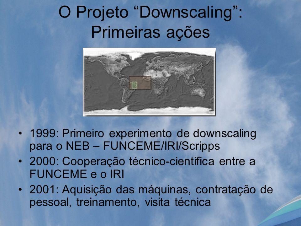 O Projeto Downscaling : Primeiras ações