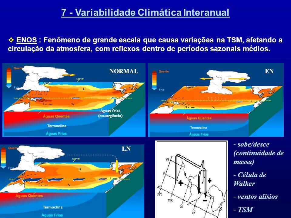 7 - Variabilidade Climática Interanual Águas frias (ressurgência)