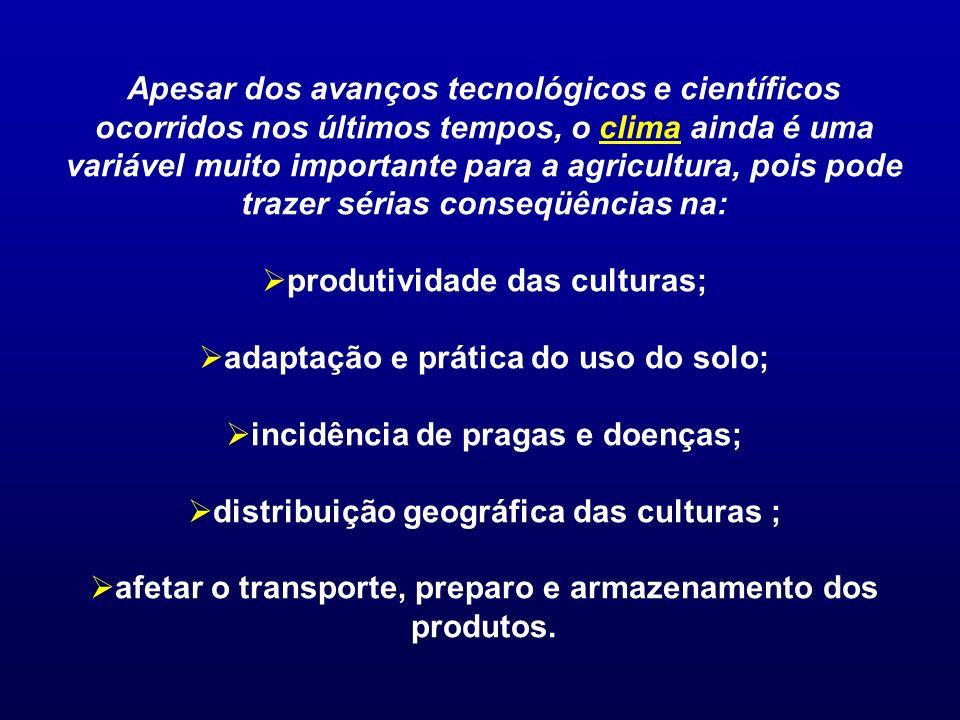 produtividade das culturas; adaptação e prática do uso do solo;