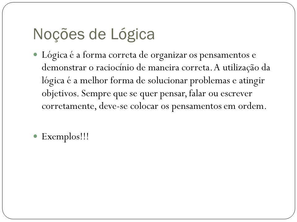 Noções de Lógica