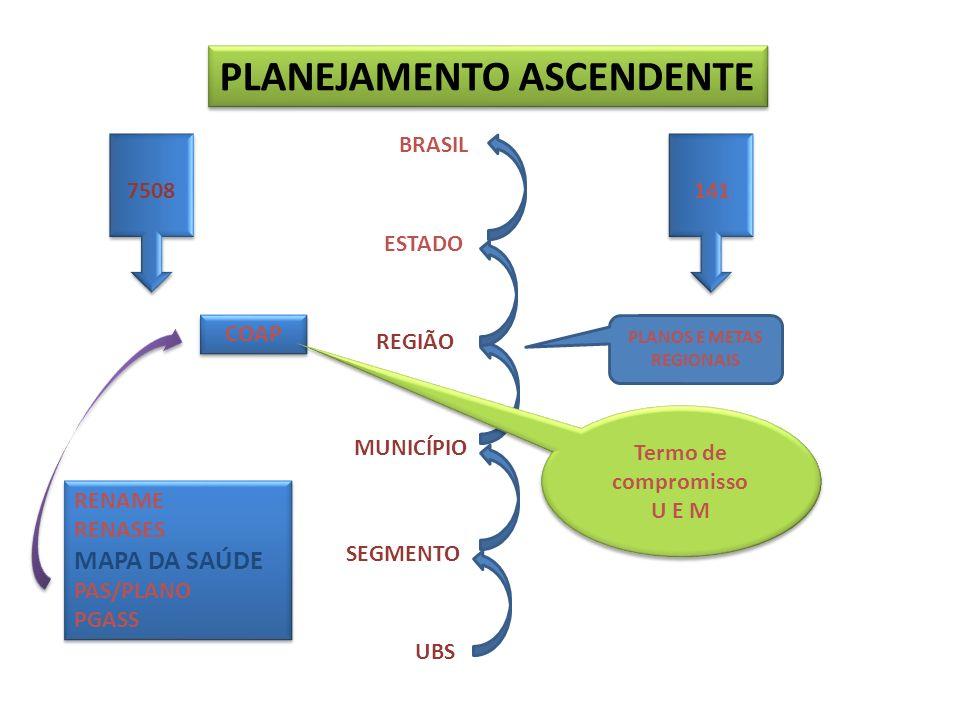 PLANEJAMENTO ASCENDENTE PLANOS E METAS REGIONAIS