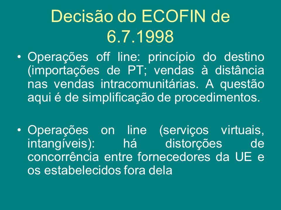 Decisão do ECOFIN de 6.7.1998
