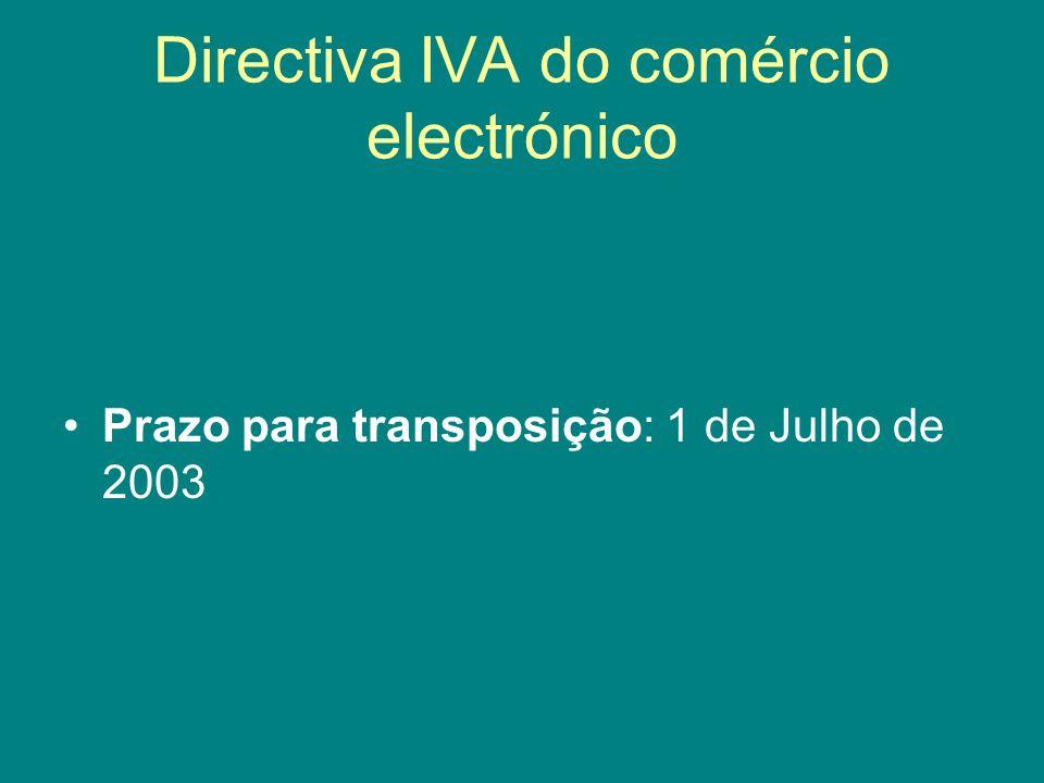 Directiva IVA do comércio electrónico