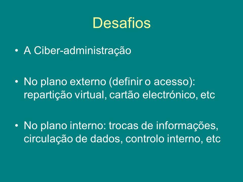 Desafios A Ciber-administração