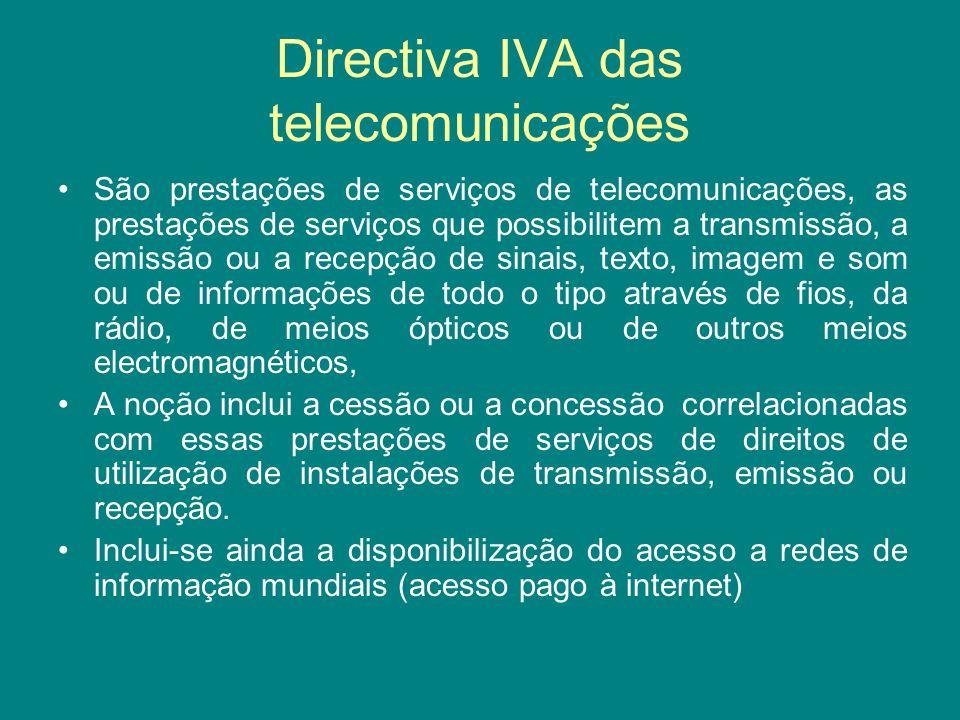 Directiva IVA das telecomunicações