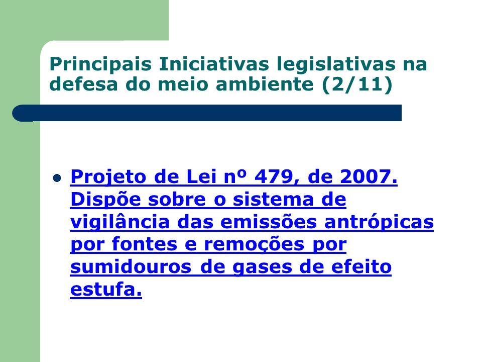 Principais Iniciativas legislativas na defesa do meio ambiente (2/11)