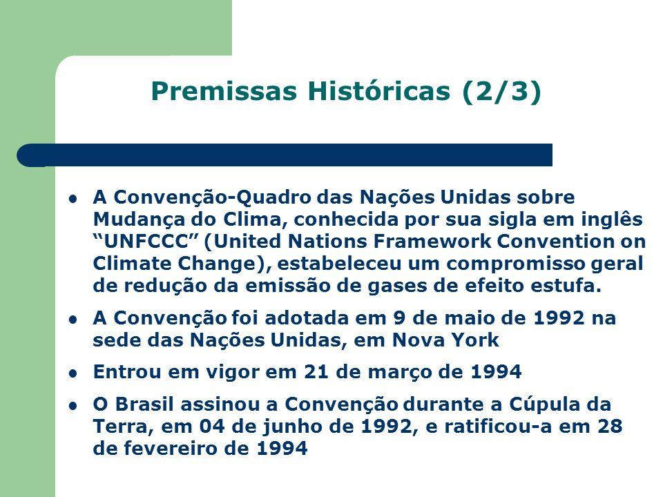 Premissas Históricas (2/3)