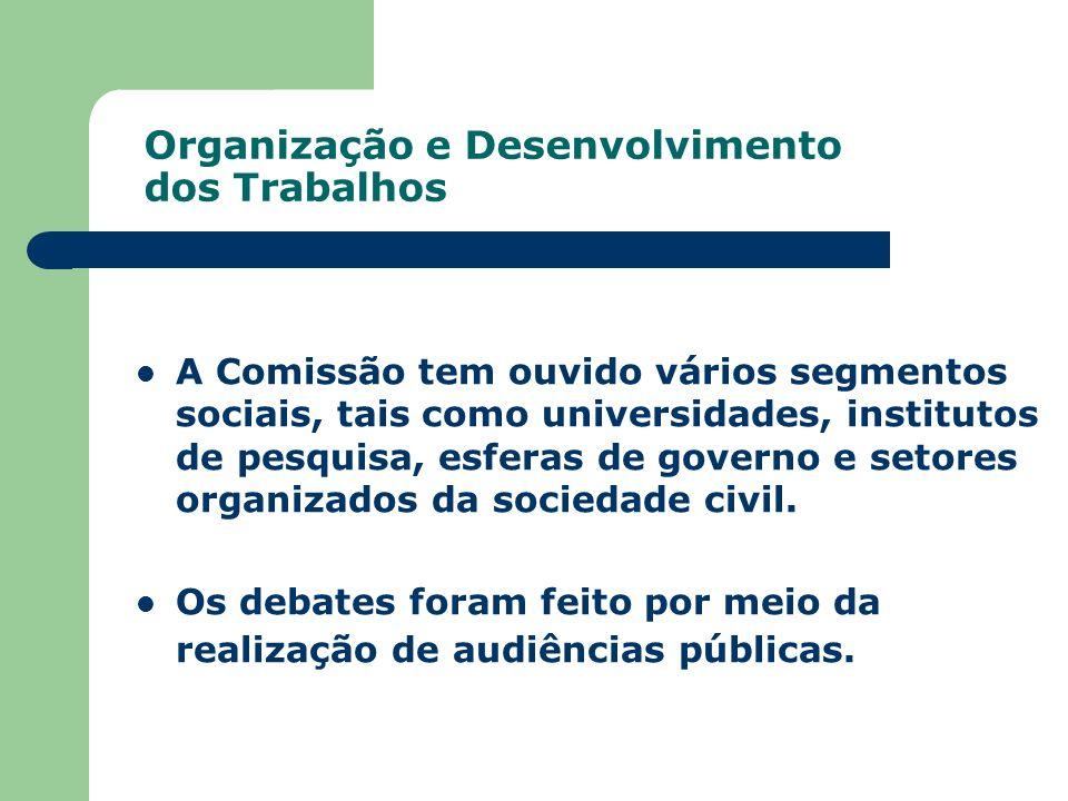 Organização e Desenvolvimento dos Trabalhos