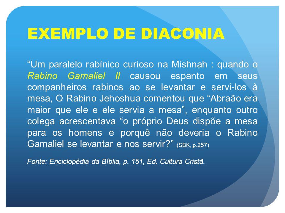 EXEMPLO DE DIACONIA
