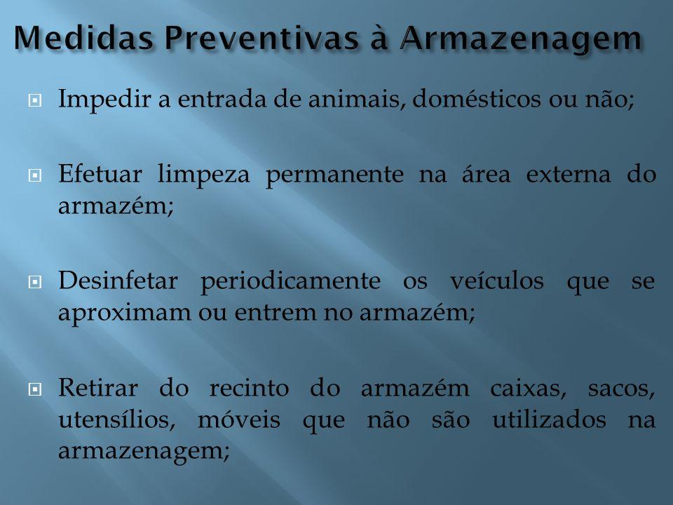 Medidas Preventivas à Armazenagem